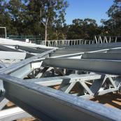Steel framing.  Architect design. Hytek framing